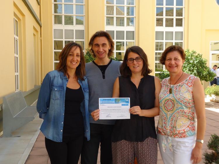 El equipo de investigación de la EASP autor del proyecto premiado.