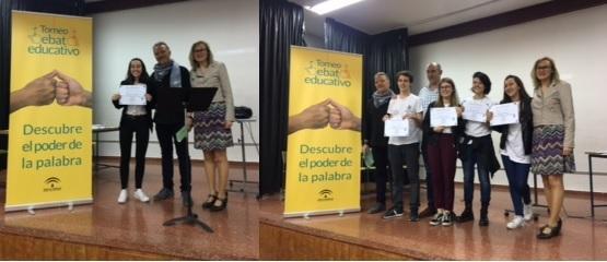 Claudia López Cárdenas, mejor oradora y e IES Ángel Ganivet, campeón.