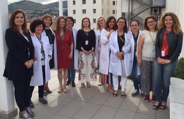 El equipo directivo del Hospital Virgen de las Nieves.