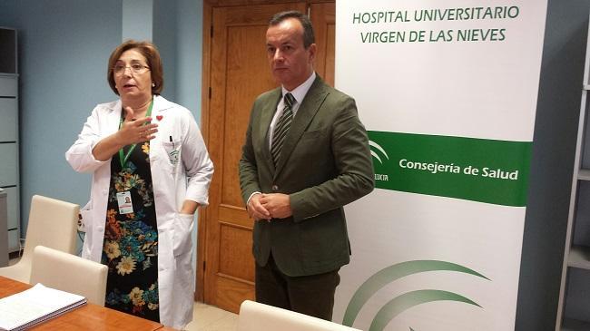 Pilar Espejo e Higinio Almagro, este miércoles.