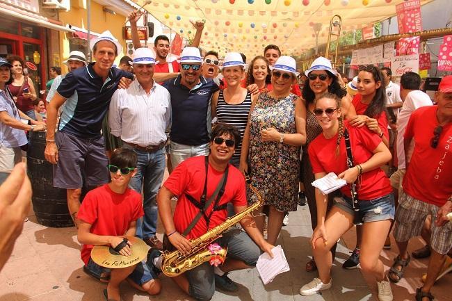 La alcaldesa y concejales, en la inauguración de la Feria de Día.
