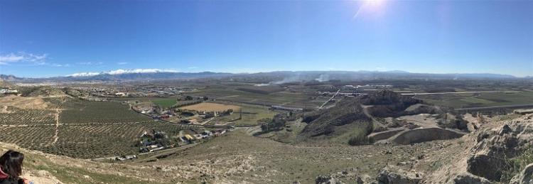 Vista de de la Vega con Sierra Nevada al fondo.