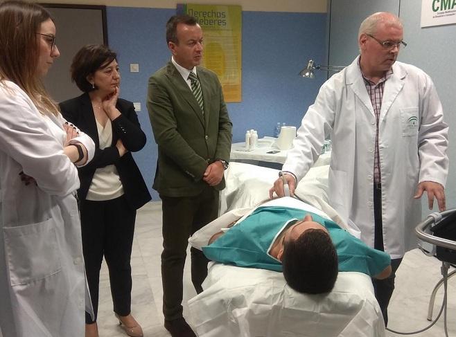 Sesiones de formación en ecografía abdominal en el CMAT del PTS.