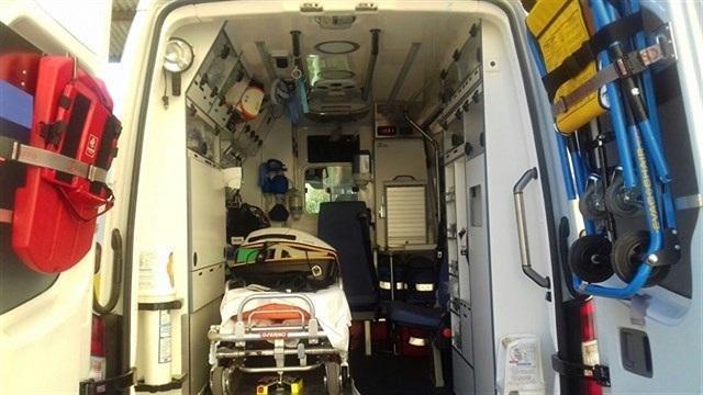 Ambulancia de emergencias sanitarias.