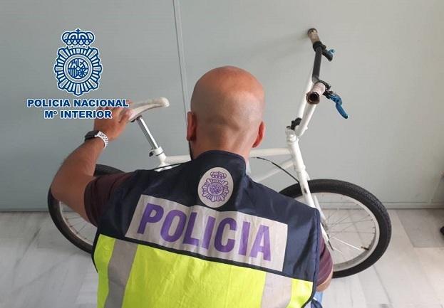 El ladrón usaba esta bicicleta para desplazarse.