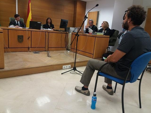 Candel, durante el juicio.
