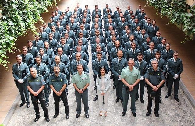 Los nuevos efectivos, en la Comandancia de Granada.