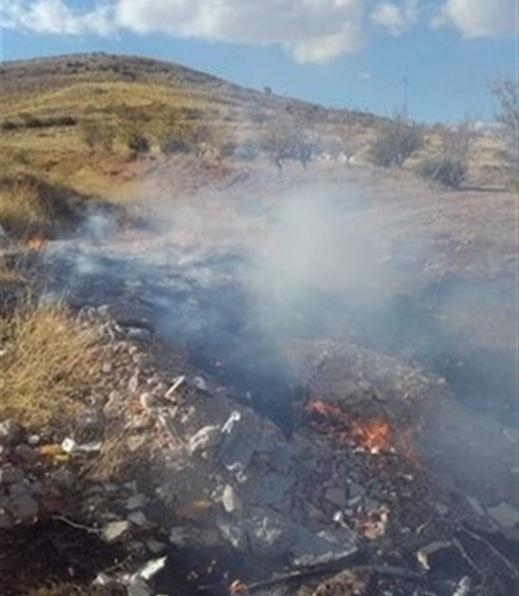 Incendio de residuos vegetales en Motril.