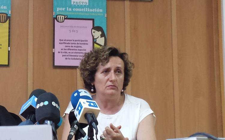 Francisca Granados, en una comparecencia en Maracena.