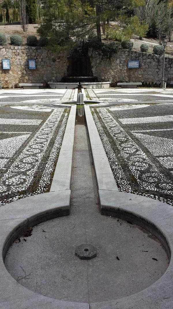 Fuente del Parque de Alfacar bajo la que se pretenden buscar los restos.