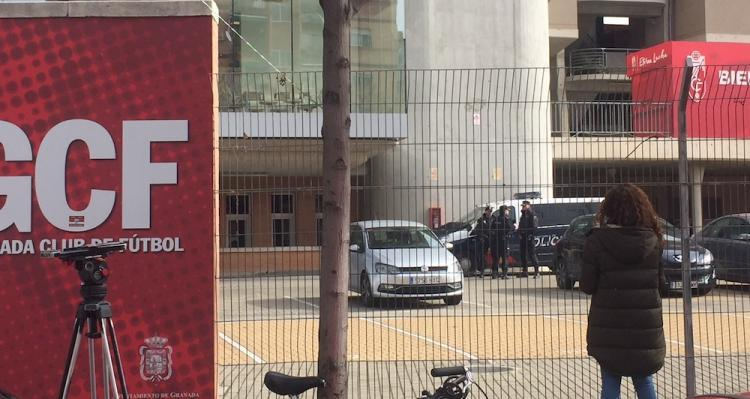 Registro policial que se hizo a finales de enero en Los Cármenes.