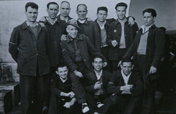 Guerrilleros de la Agrupación de Granada en la cárcel.