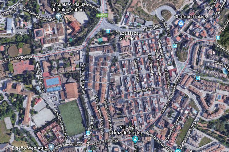 Ubicación del barrio de Haza Grande.
