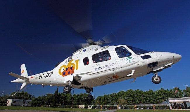 Helicóptero del 061.