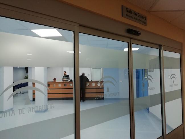 Entrada de las nuevas instalaciones.