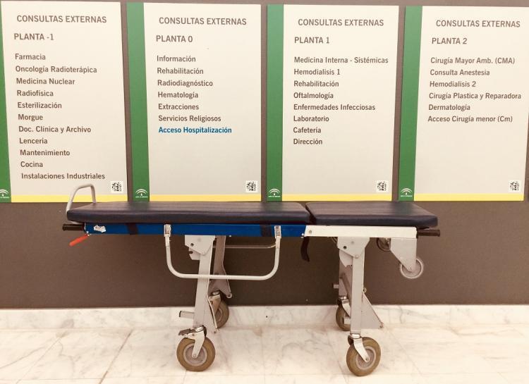 Panel informativo en el Hospital Clínico del PTS.