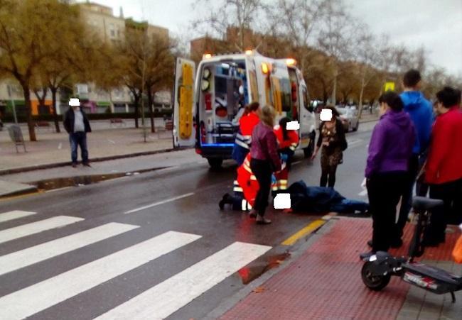 Imagen del atropello ocurrido en marzo.