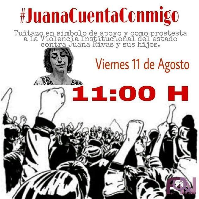 Imagen de la campaña en redes en apoyo a Juana Rivas.