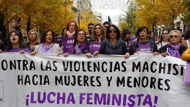 Juana Rivas en la manifestación del pasado 25 de noviembre.