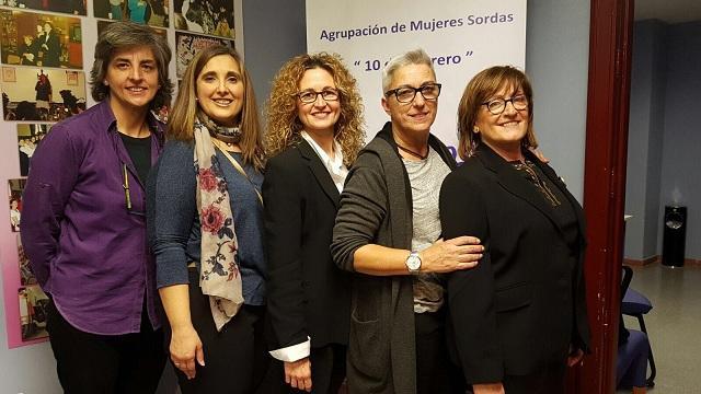 Junta directiva de la Agrupación de Mujeres Sordas.