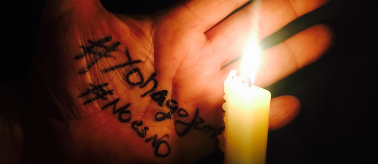 No hay excusas para sumarse a esta lucha. #NOESNO ##YOHAGOFRENTE.