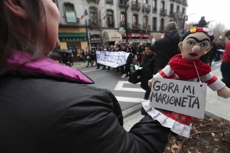 Manifestación de apoyo que se celebró en Granada tras la detención.