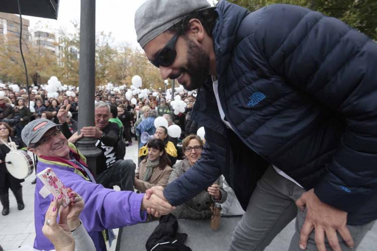 Jesús Candel en la manifestación del pasado noviembre.