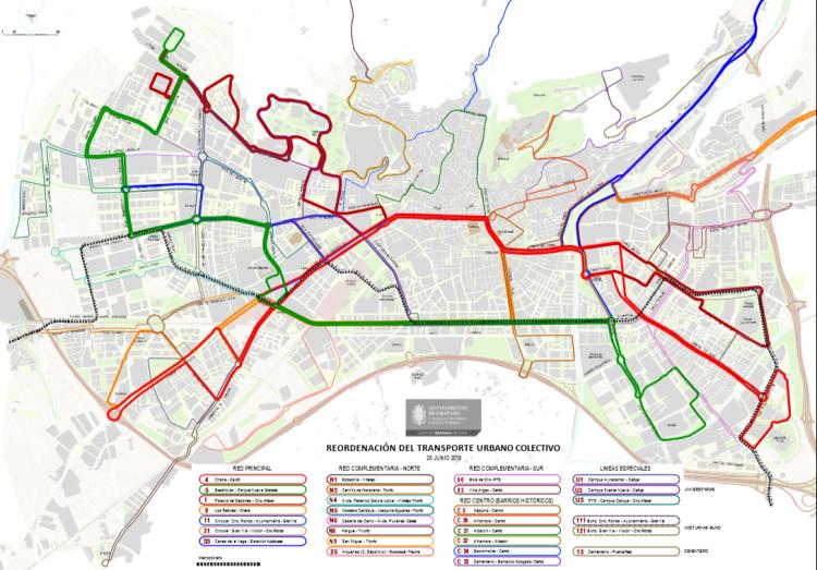 Este lunes 16 de julio entra en funcionamiento el nuevo mapa del transporte urbano.