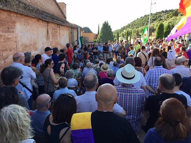 Acto en recuerdo de las víctimas del franquismo celebrado este 18 de julio.