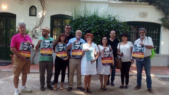 Representantes de las asociaciones y familiares de Milagro Almenara Pérez.