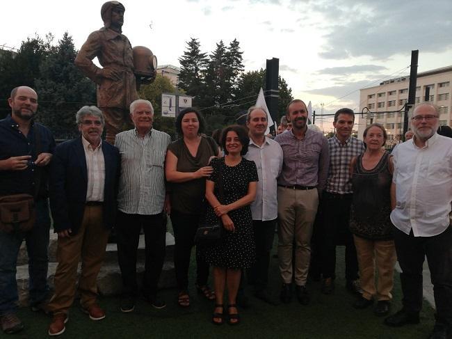 Emilio Herrera Soler, junto a miembros de la comisión organizadora del Año Emilio Herrera Linares.