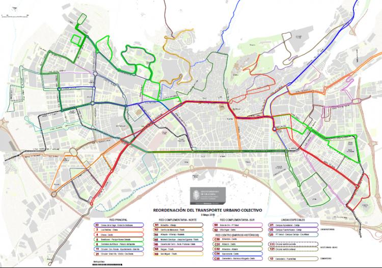 Nuevo mapa de las líneas.