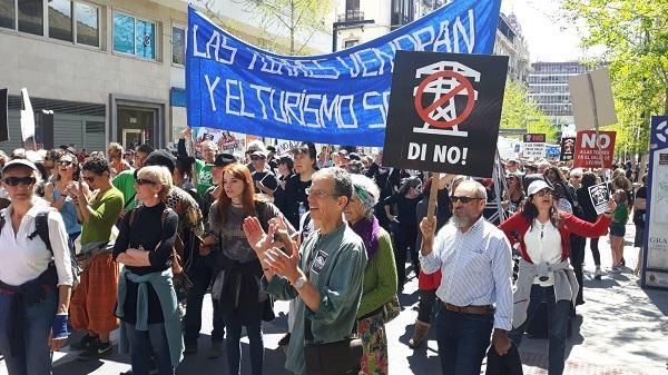Manifestación este sábado en la capital.