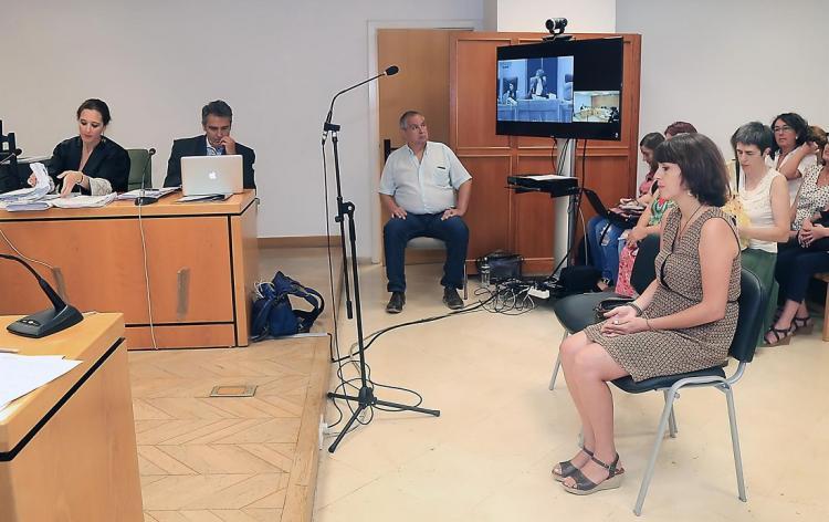 Juana Rivas al inicio del juicio este miércoles.