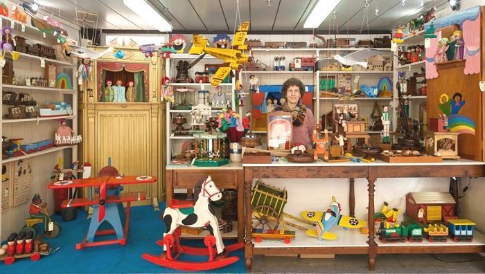 Ramona, en su fábrica de sueños.