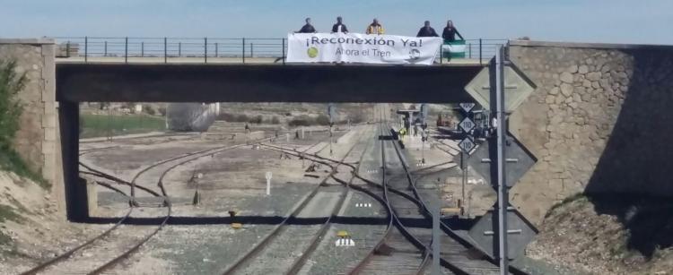 Imagen de la Estación de Moreda, emplazamiento de la última acción reivindicativa.