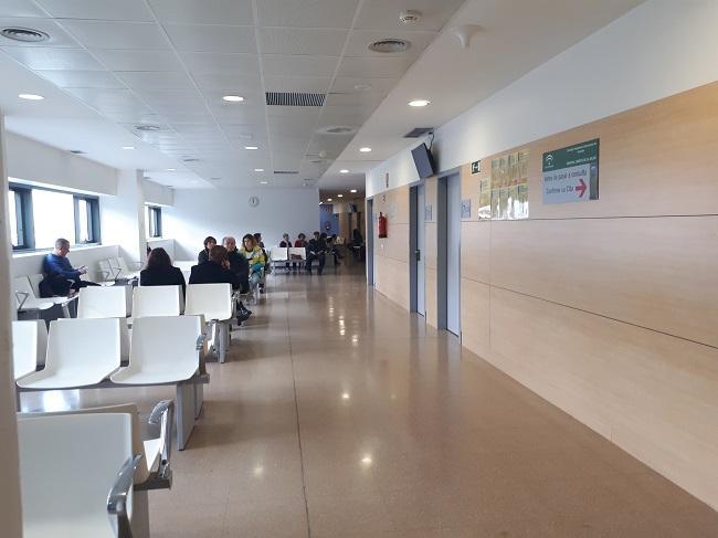 Sala de espera de las consultas externas de Oncología.