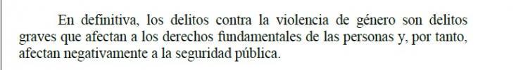 Extracto de la sentencia.