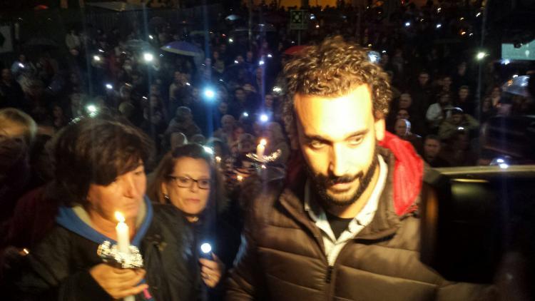 Jesús Candel atiende a los medios antes de la reunión.