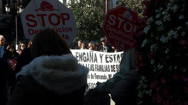 Movilización en apoyo de Fernando y María José.