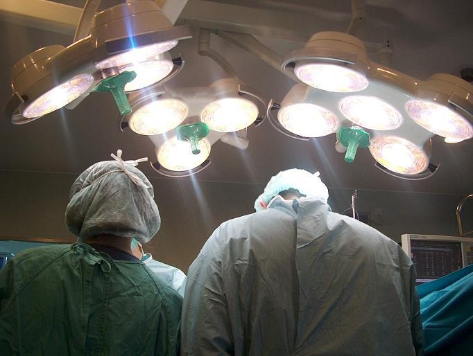 Quirófano durante una operación de trasplante.