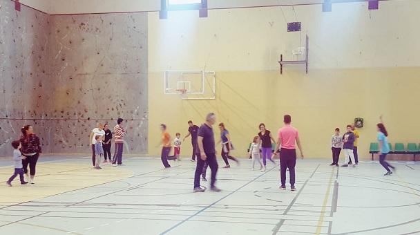 Una de las sesiones del programa deportivo.