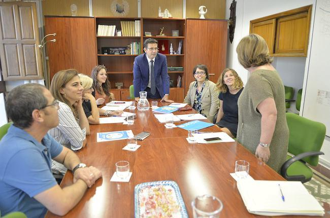 Una de las reuniones con representantes de Unicef.