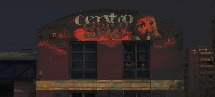 Centro Cívico Norte, en una de las noches sin luz.