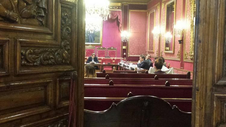 Imagen de la primera sesión a puerta cerrada.