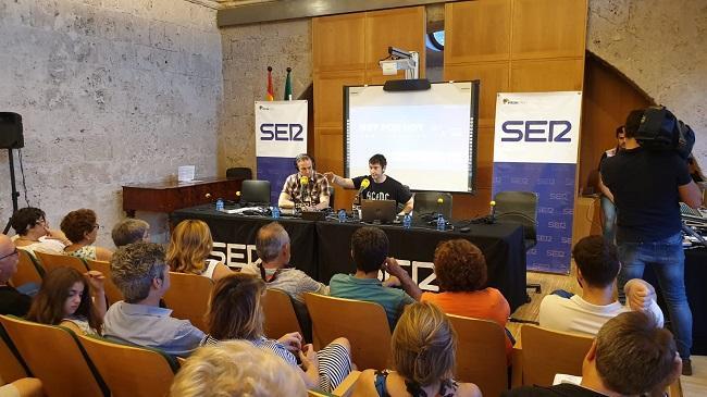 Tony Garrido y Tom Kallene, en el programa emitido este viernes desde Granada.