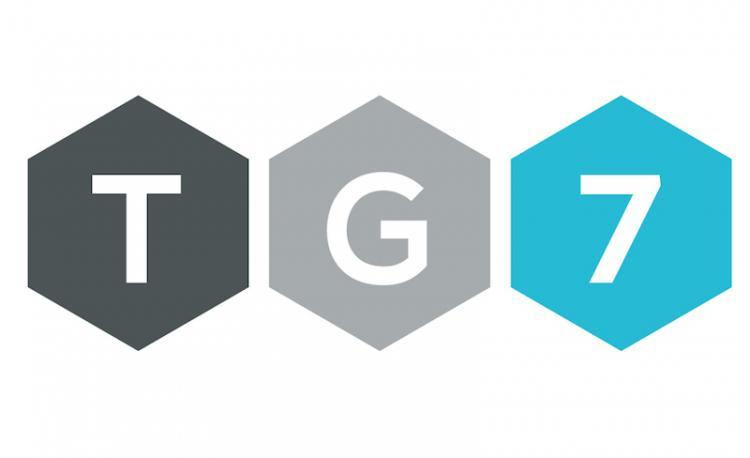 Logo de la siempre polémica televisión municipal de Granada, TG7.