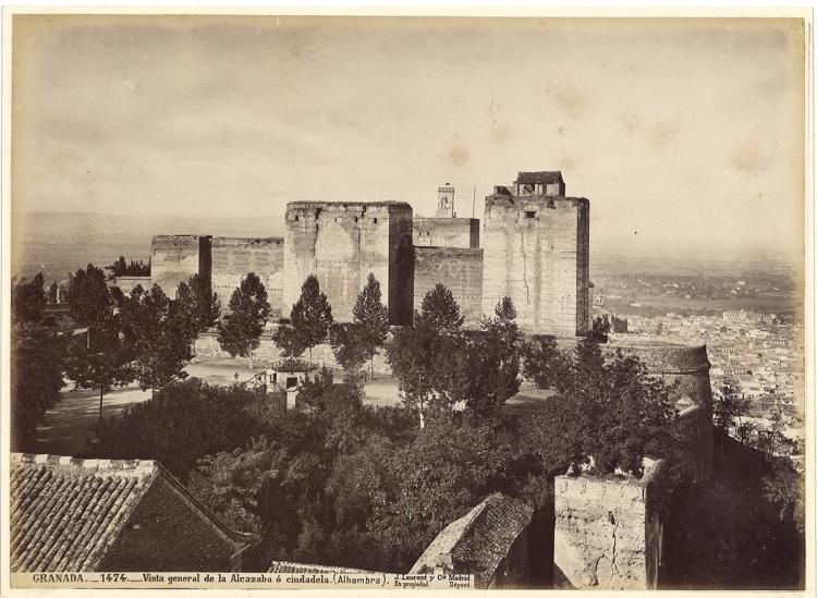 Panorámica de la Alhambra de Laurent que se muestra en la exposición.