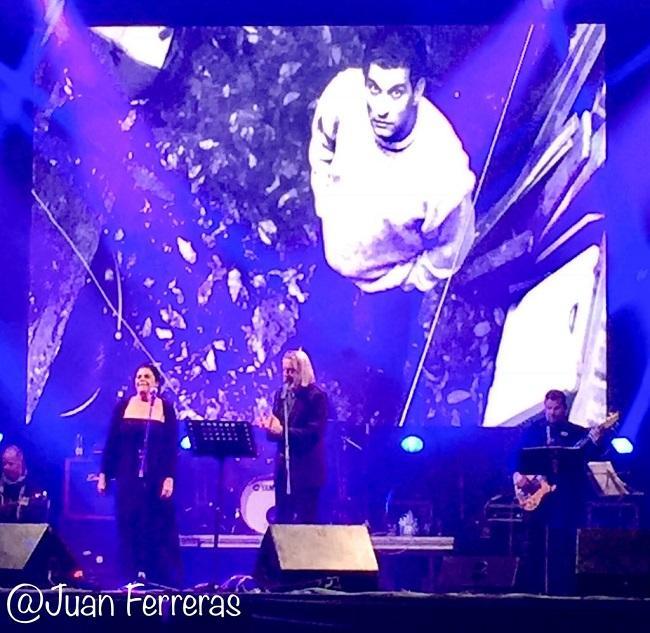 Luis Pastor y Lourdes Guerra, en el tributo a Carlos Cano.