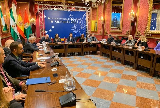 Reunión celebrada este miércoles en el Ayuntamiento.
